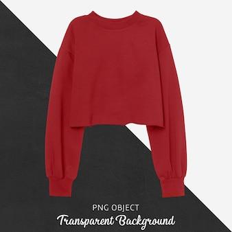 붉은 자르기 운동복 모형의 전면보기