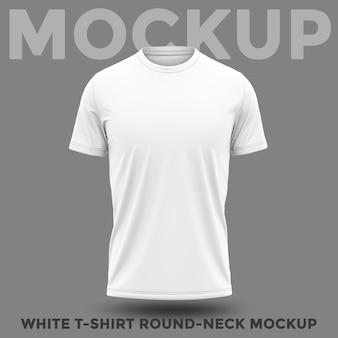 둥근 목 모형이있는 셔츠의 전면보기
