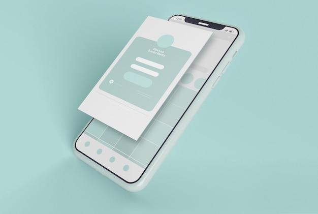 スマートフォンのモックアップの正面図