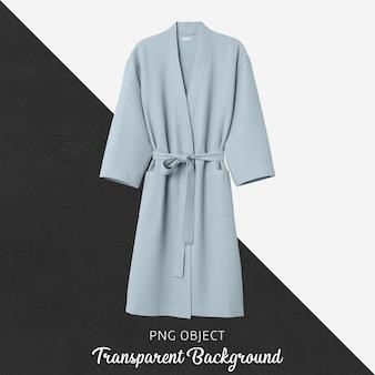 Мягкий синий макет халата, вид спереди