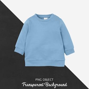 부드러운 파란색 스웨터 어린이 모형의 전면보기