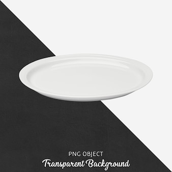 Вид спереди макета белой тарелки