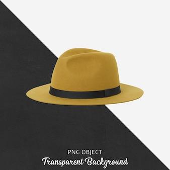 노란 모자 모형의 전면보기
