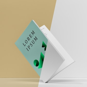 Mock-up libro aperto vista frontale