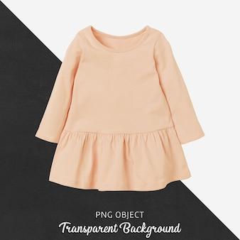 Front view of orange children dress mockup