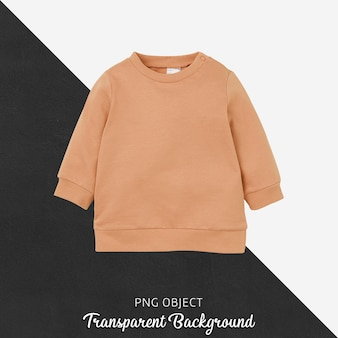 Front view of orange children sweatshirt mockup