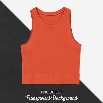 Front view of orange crop top mockup