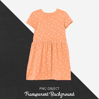 Front view of orange dress mockup