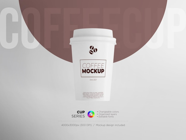Front view paper cup templat