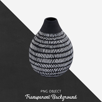 Front view of patterned black vase mockup