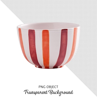 Front view of patterned bowl isolated