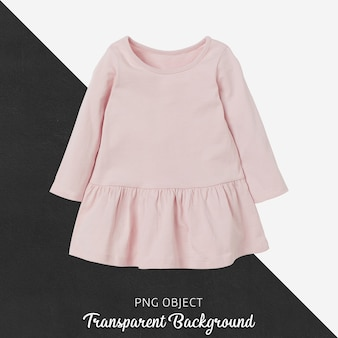 Front view of pink children dress mockup