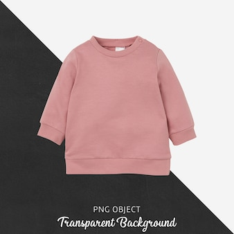Front view of pink children sweatshirt mockup