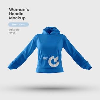Front view of premium customizable woman hoodie mockup