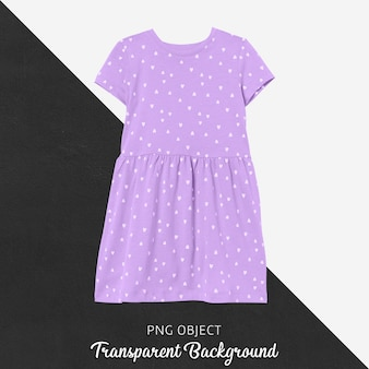 Front view of purple dress mockup
