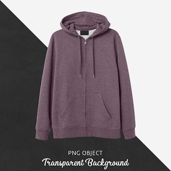 Front view of purple hoodie mockup