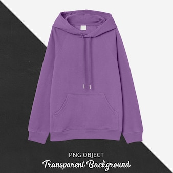 Front view of purple hoodie mockup