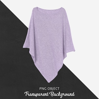 Front view of purple woman poncho mockup
