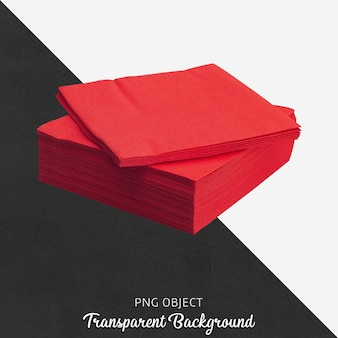 Front view of red napkin