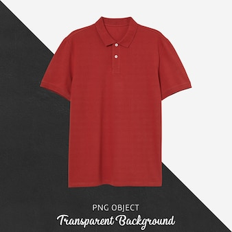 Front view of red polo tshirt mockup
