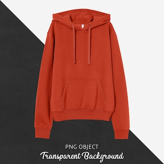 Front view of red unisex hoodie mockup