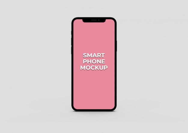 Front view smart phone mockup