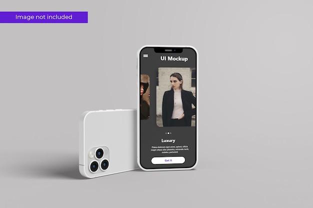 Front view smartphone mockup design in 3d rendering