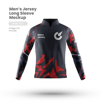 Front view of sport jersey mockup