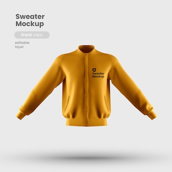Front view of sweater mockup