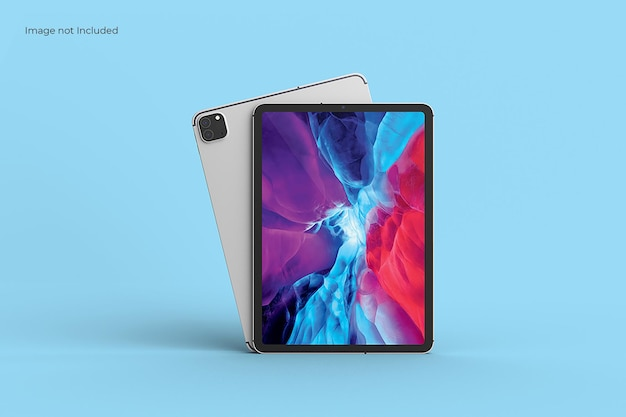 Front view tablet mockup