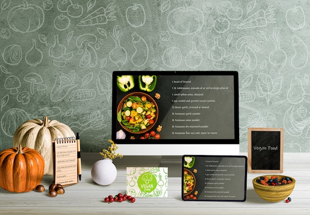 Front view of thanksgiving concept mock-up