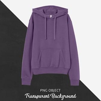 Front view of unisex purple hoodie mockup