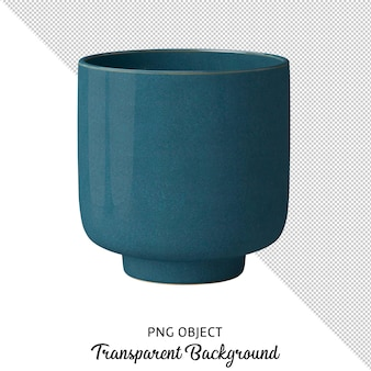 Front view of vase isolated