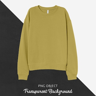 Front view of yellow basic sweatshirt mockup