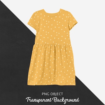 Front view of yellow children dress mockup