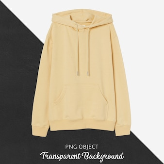 Front view of yellow hoodie mockup