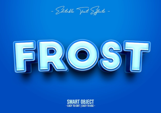 Frost text style effect