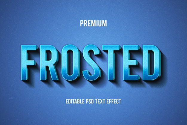 Frosted text effect