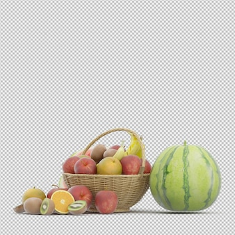 Fruit 3d render