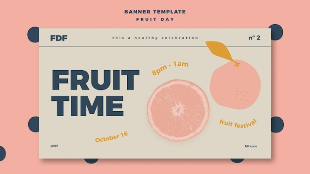 Fruit day banner template