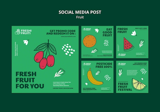 과일 축제 소셜 미디어 게시물 템플릿