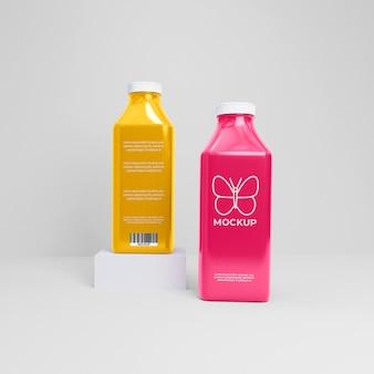 Макет бутылки фруктового сока