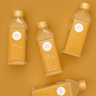Макет упаковки бутылки фруктового сока