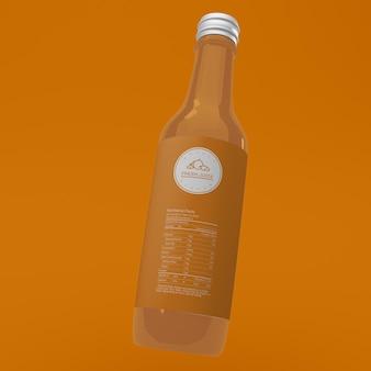 Макет упаковки бутылки фруктового сока Бесплатные Psd