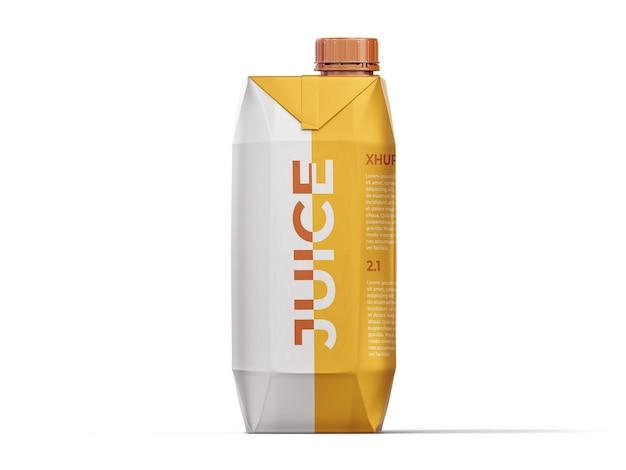 Fruit juice box mockup template