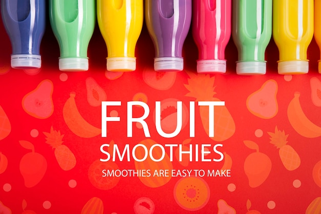 Fruit smoothies are easy to make mock-up