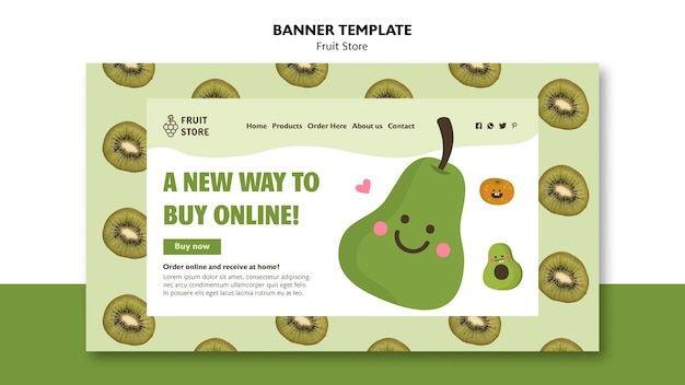 Fruit store banner template