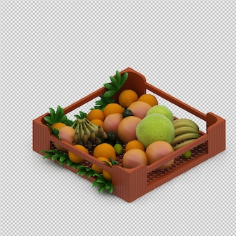 Fruits 3d render