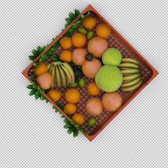 Фрукты 3d визуализации