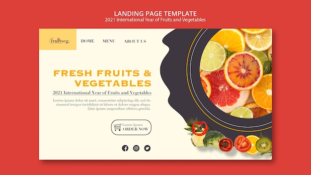 Целевая страница года фруктов и овощей